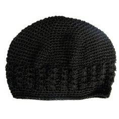 A Girl Company Black Crochet Beanie Hat for Baby and Girl (Apparel)