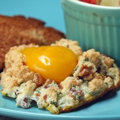 Eggs In A Cloud. Interesting. I'd put the yolks on sooner, since I don't like them Runny.