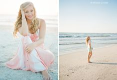 Great sunset portraits filled with sweet poses for senior pictures. Photo credit: Esther Louise
