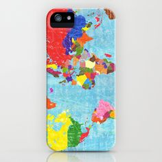 world map iPhone & iPod Case by elvia montemayor - $35.00