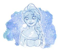 From Disney Frozen of course I love her style and I wanted to draw her since the first time I've watched the movie. Too lazy to colour it...but I hope you'll like the sketch anyway! Background effe...