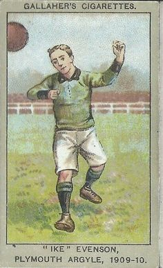 Ike Evenson of Plymouth Argyle in 1909-10.