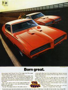 "1969 Pontiac GTO The Judge:  Das GTO-Sondermodell ""The Judge"" war Pontiacs..."