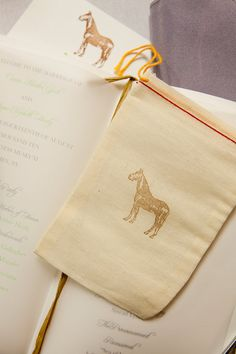 muslin bags with horse stamp for some kind of favor? my stamp looks just like this one would be cute treat bag for the go