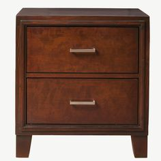 Furniture of America Constance Brown Cherry Night Stand/ Bedside Table | Overstock.com Shopping - The Best Deals on Nightstands
