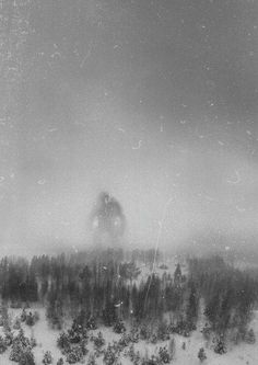 It is believed that this is the only photo in existence of the Great Norwegian Mountain Troll. It was taken in December 1942 by the crew of an RAF recon flight 300 miles north of Berge