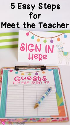 Make meet the teacher night easier! Fun llama theme and over 10 themes included in the bundle! #classroomorganization #meettheteacher #meettheteacherideas #meettheteachernight #backtoschoolnight #backtoschoolnightideas