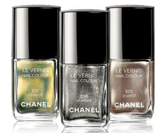 Chanel FW11 - Limited Edition Nail Polish Péridot, Quartz & Graphite