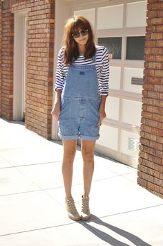 Stripes & Overalls. yes. love my overalls