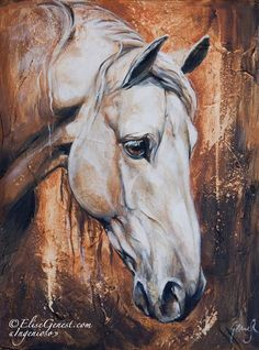 How to draw a Horse -lesson 8 in -realism drawing tips. White Horse Painting, Love Painting, Knife Painting, Unique Drawings, Sad Drawings, Princess Drawings, Equine Art, Wassily Kandinsky, Horse Love