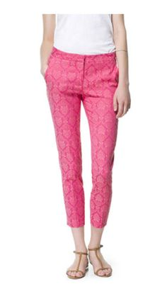 Pink pants from Zara! Loving these