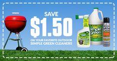 $1.50 Coupon at SimpleGreen.com/coupons