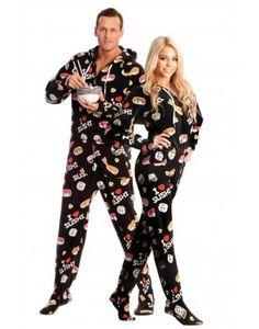 be581cd203 Hot Sushi Adult Footed onesie Pajamas Adult Onesie Pajamas