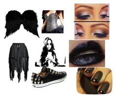 """""""fallen angel"""" by jjhuffman ❤ liked on Polyvore featuring beauty, INC International Concepts, Elite and Converse"""