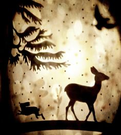 Surreal Woodland Photo Deer Hart Collage by missquitecontrary, $30.00