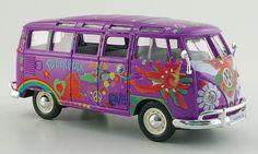 VW Samba Bus Lila - Hippie Line 1:25 Maisto 32301