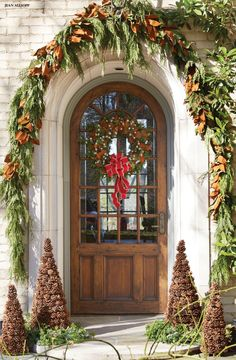 Front entrance. #holiday #decor