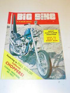 """VTG """"BIG BIKE"""" (AUGUST1969) CHOPPER MOTORCYCLE MAGAZINE: CUSTOM BIKE HOG CYCLE"""
