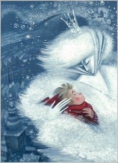 Nika Goltz - The Snow Queen by Hans Christian Andersen 2004 Classic Fairy Tales, Animation, Snow Queen, Ice Queen, Children's Book Illustration, Les Oeuvres, Fantasy Art, Dream Fantasy, Fantasy Makeup