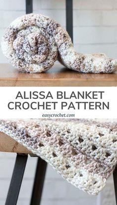 Easy Crochet Blanket, Chunky Crochet, Crochet Blankets, Baby Blankets, Free Crochet, Crochet Blanket Patterns, Easy Crochet Patterns, Crochet Crafts, Crochet Projects