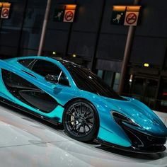 #McLaren P1 looking so sleek in blue. #SuperCar #Speed #Power #Style #Design #Cars #CarShowSafari
