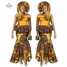 Online Shop Fashion Multilayer Draped Print Top & Skirt Sets Bazin Riche African Wax Dresses for Women 2 Pieces Skirts Sets Clothing Latest African Fashion Dresses, African Dresses For Women, African Print Fashion, African Attire, Party Dresses For Women, African Clothes, Traditional African Clothing, African Print Skirt, African Dashiki
