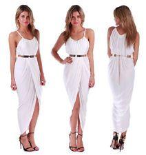 New Sexy Women's Bohemia Beach Irregular Bodycon Sleeveless Harness Dress White