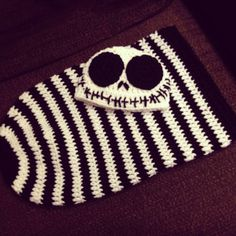 Crochet Newborn Black and White Jack by MaxineVelasquez on Etsy