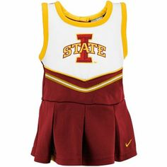 Nike Iowa State Cyclones Infant 2-Piece Cheerleader Dress Set - Cardinal... Sarah's fashion of course