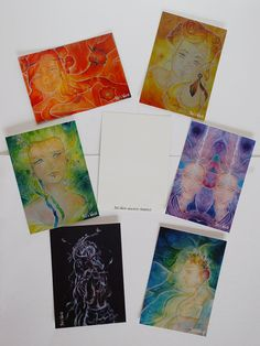 The Faeries of Emotions  Postcards art prints di SileWorld su Etsy