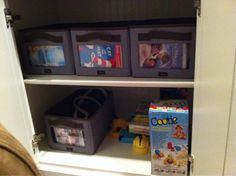 Your Way Rectangles are perfect for organizing DVDs in your family room