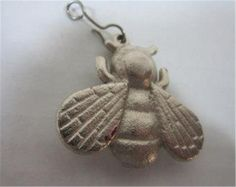 Vintage Bug Pendant Silver Tone Heavy Bug/Fly/Bee Necklace Pendant Jewelry #Unbranded #Pendant #Pendant