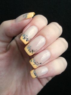 pastel neon french manicure