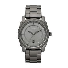 Machine Stainless Steel Men's Fossil Watch-- Have this in black....this steel color is also pretty legit.