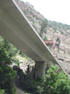 I70 Colorado Glenwood Canyon Highway Wset Bound Lane Overhead