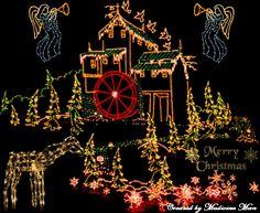 Free Animated Christmas pictures | Animated Christmas House Lights-