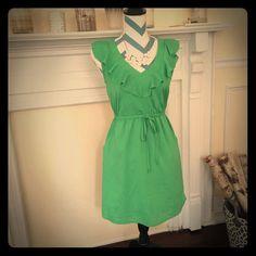 Green Ruffle Dress.