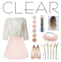 """See-through"" by gillian918 ❤ liked on Polyvore featuring Ballet Beautiful, RED Valentino, Dot & Bo, Semilla, MAC Cosmetics, Deborah Lippmann, clear and Seethru"