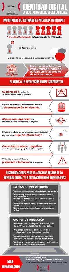#IdentidadDigital : la Reputación Online de las Empresas #infografia #infographic