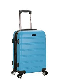 Rockland Luggage Melbourne 20 Inch Expandable Carry On, Turquoise, One Size Expandable abs carry on Lightweight yet extremely durable abs material Multi-directional spinner wheels Sturdy ergonomic aluminum telescoping handle Dimensions: Carry On Suitcase, Carry On Luggage, Carry On Bag, Travel Luggage, Rockland Luggage, Lightweight Luggage, Grey Pattern, Travel Style