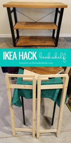 Try this easy IKEA hack bookshelf! One IVAR shelf unit turned into three rustic modern bookshelves or small console tables for affordable easy DIY storage. Ikea Ivar Shelves, Ikea Shelf Hack, Small Bookshelf, Modern Bookshelf, Ikea Bookshelf Hack, Bookshelf Table, Rustic Bookshelf, Ikea Furniture Hacks, Ikea Hacks