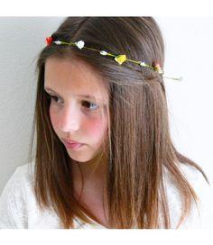 corona diadema flores