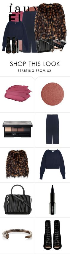 """""""street fur"""" by spiceandsugar ❤ liked on Polyvore featuring Lumière, NARS Cosmetics, Chloé, Dries Van Noten, Alexander Wang, Lord & Berry, Giles & Brother and Barbara Bui"""