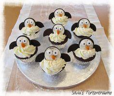 Silvia's Tortenträume: Pinguin-Oreo-Cupcakes Pinguin Oreo Rezept Anleitung