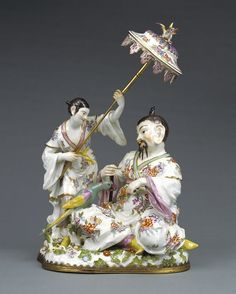 MEISSEN Porcelain - Group of Japanese Figures, about 1745 - Model by Johann Joachim Kändler Porcelain Jewelry, Fine Porcelain, Porcelain Ceramics, Painted Porcelain, Porcelain Tiles, Japanese Porcelain, Porcelain Doll, Hand Painted, Dresden
