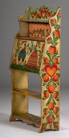 Look at this unique little desk. I found the pictures at an auction site online.The deskhad sold but the pictures are inspirational. Thi...