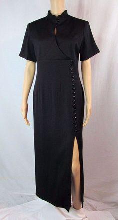 Newport News Size 8 Black Short Sleeve Long Career Maxi Day to Night Suit Dress #NewportNews #BallGownEmpireWaistMaxiShortSleeveCareerDaytoNight #Formal