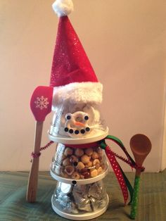 Gifting a Prep Bowl Set? Skip the wrapping paper and build a cute snowman!  Shop now or join my team @ www.pamperedchef.biz/emileeskitchen, join me on Facebook Emilee's Pampered Chef Kitchen. Contact me to get some FREE :)