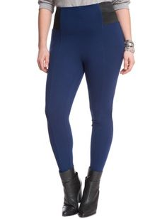 faux leather chap miracle flawless legging | women's plus size