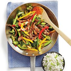 """PB and J"" Steak Stir-fry with Rice Recipe"